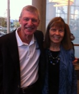 Bob Hess, RN, and Suzanne Smith, RN, at her retirement party